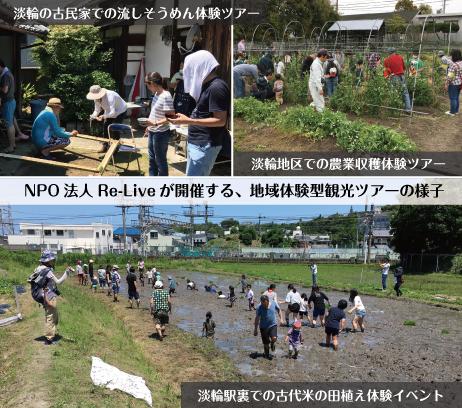 NPO法人Re-Liveが開催する、地域体験型観光ツアーの様子
