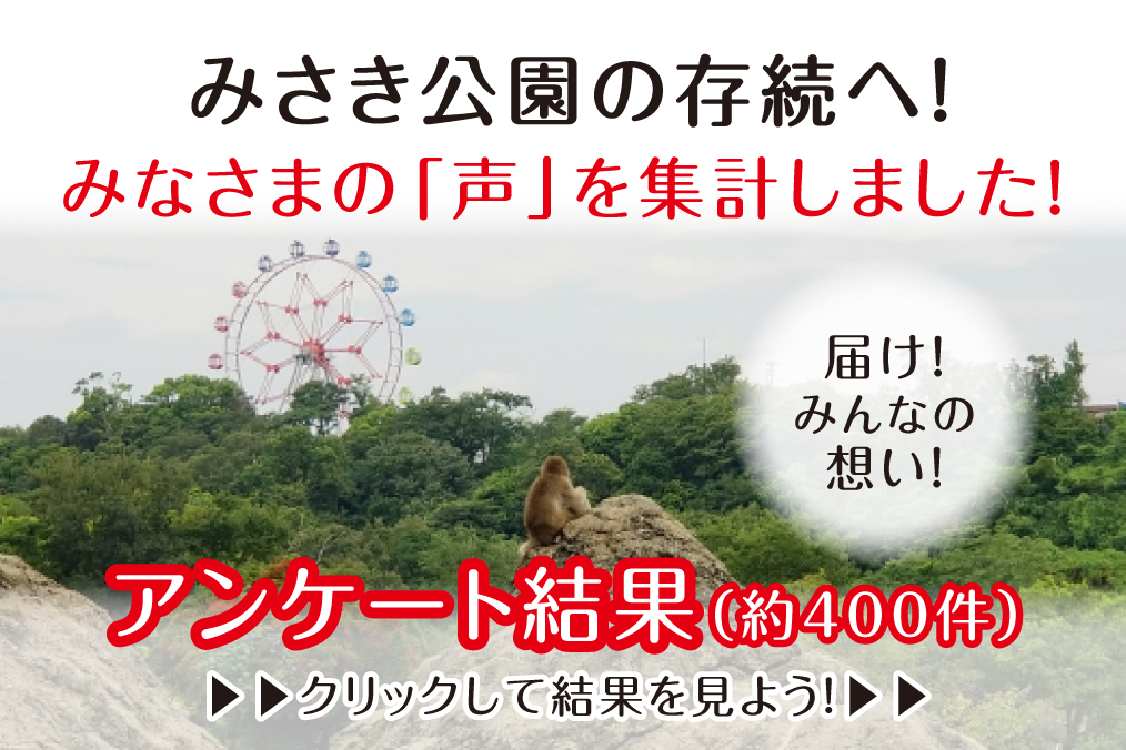 みさき公園の閉園について、みなさまからいただいたアンケートの「声」を集計しました。