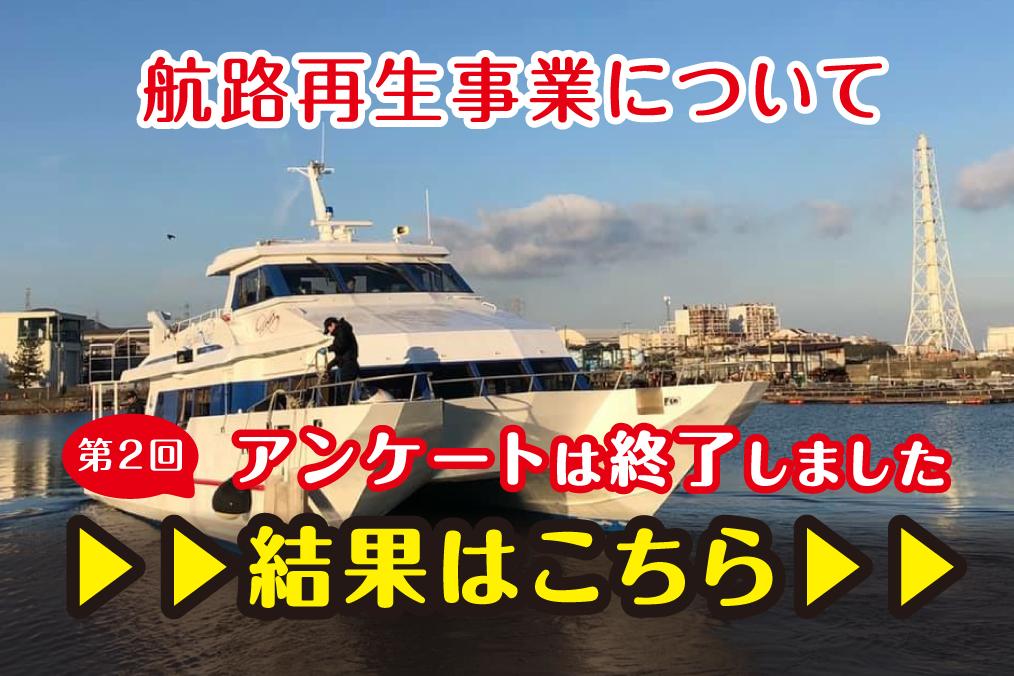 第2回住民アンケート「深日-洲本港航路再生事業」に関するアンケート結果